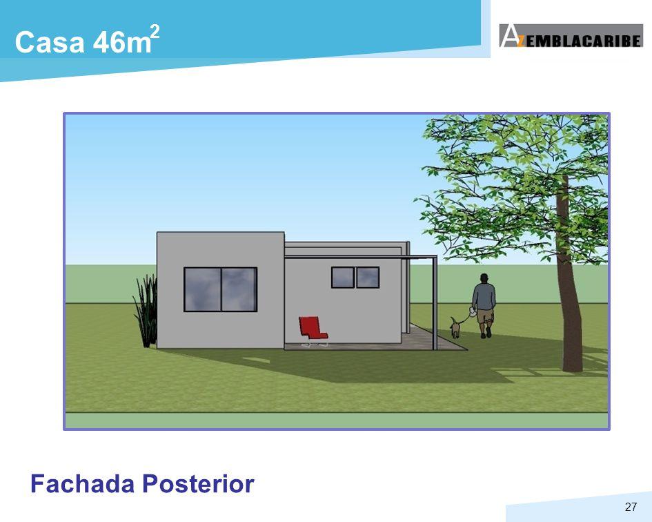 2 Casa 46m Fachada Posterior