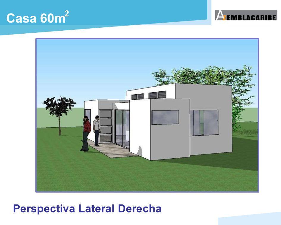 2 Casa 60m Perspectiva Lateral Derecha