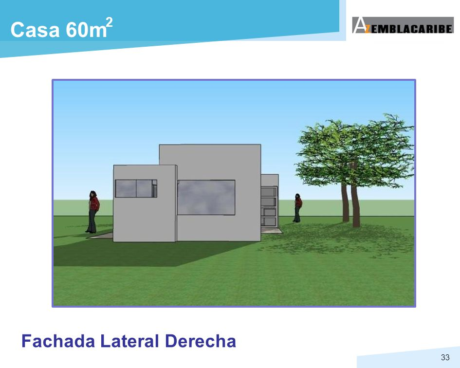 2 Casa 60m Fachada Lateral Derecha