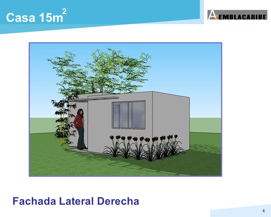 2 Casa 15m Fachada Lateral Derecha