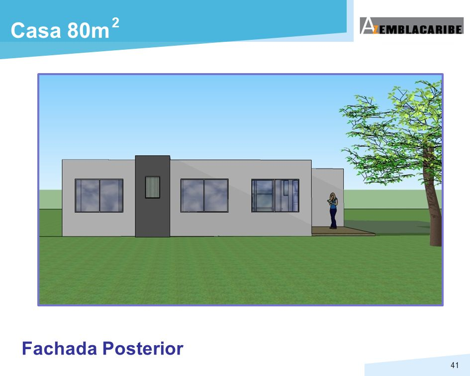 2 Casa 80m Fachada Posterior