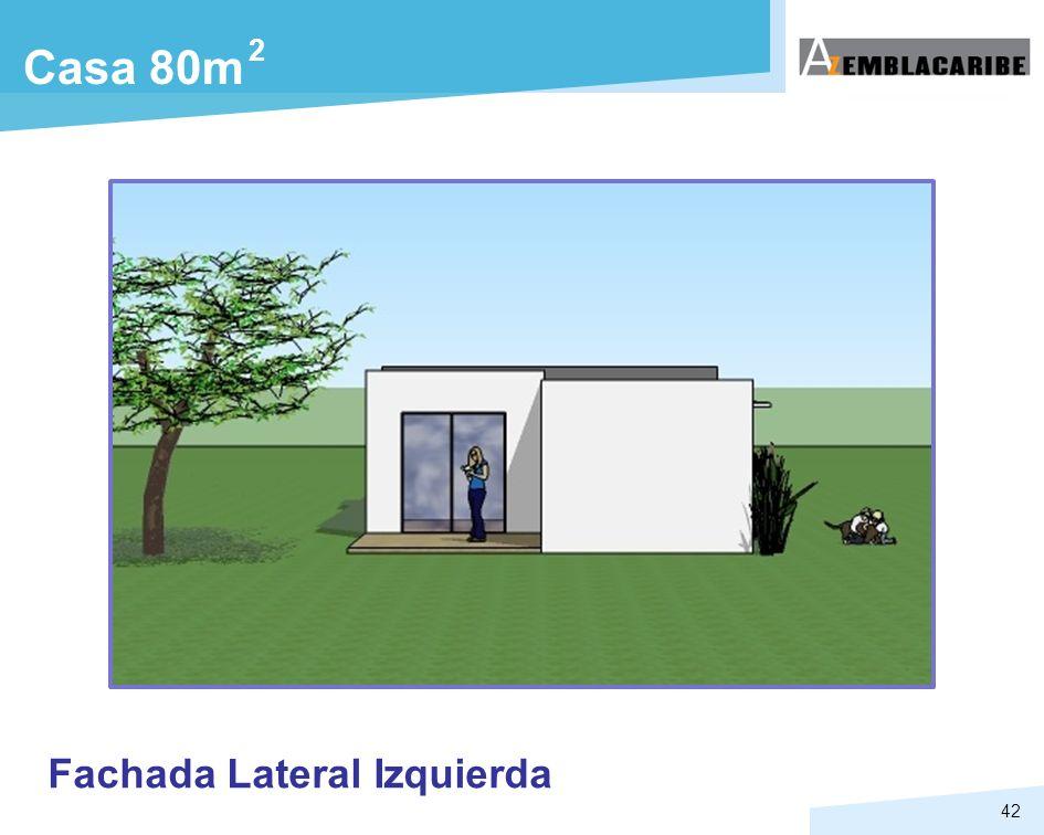 2 Casa 80m Fachada Lateral Izquierda