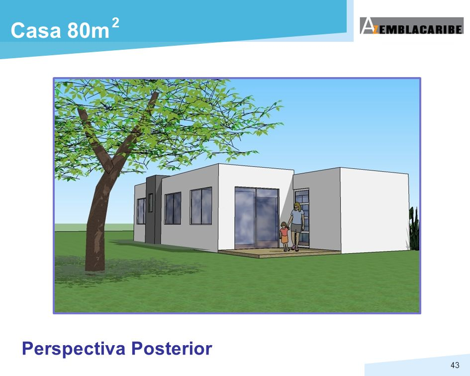 2 Casa 80m Perspectiva Posterior