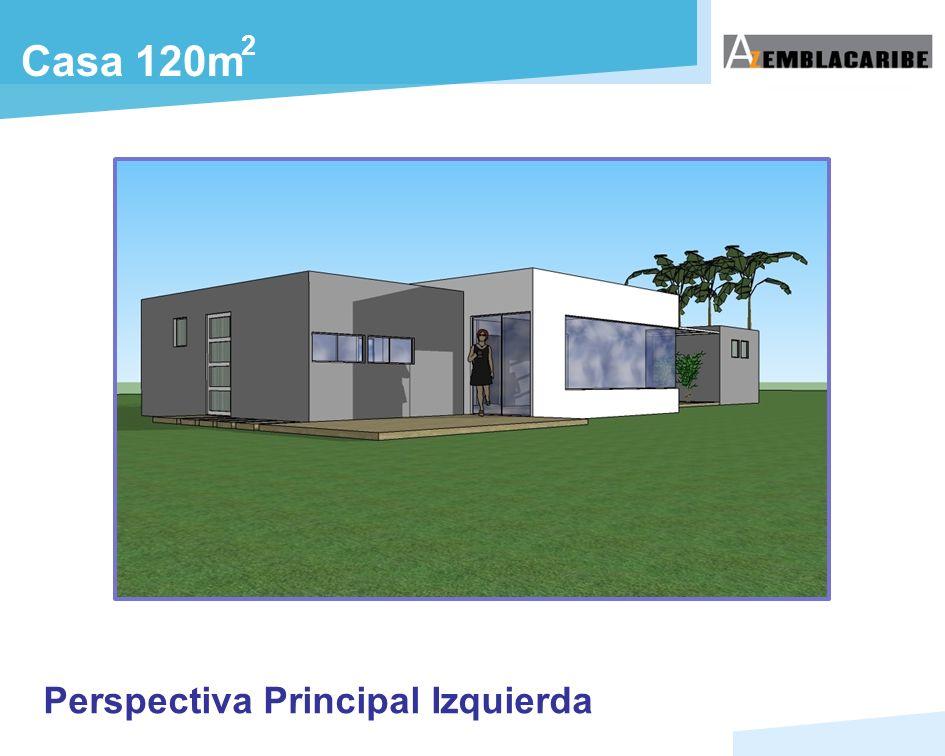 2 Casa 120m Perspectiva Principal Izquierda