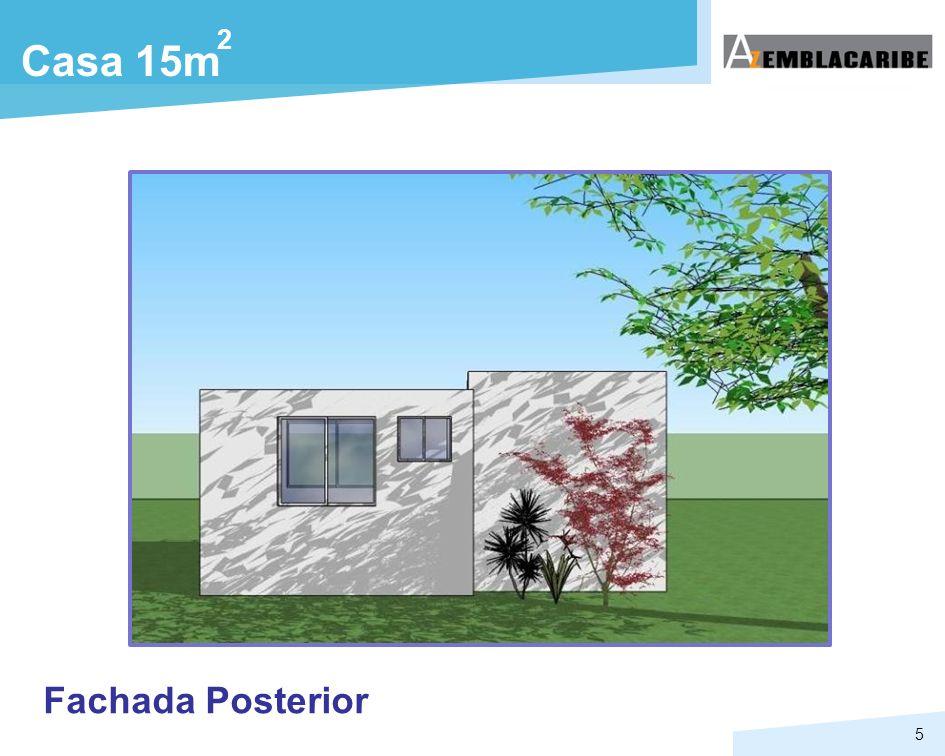 2 Casa 15m Fachada Posterior