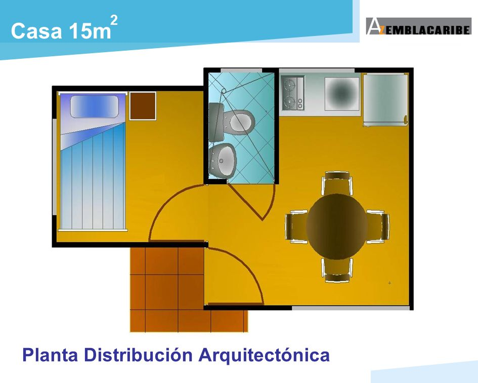 2 Casa 15m Planta Distribución Arquitectónica