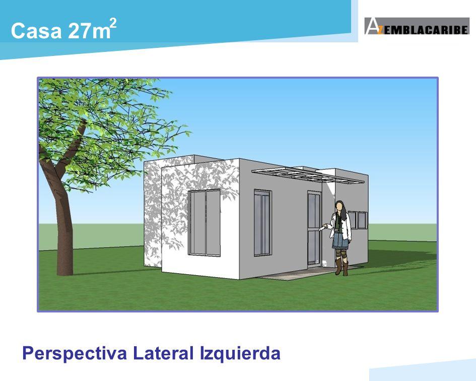 2 Casa 27m Perspectiva Lateral Izquierda