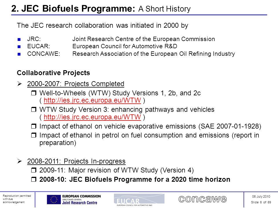 2. JEC Biofuels Programme: A Short History