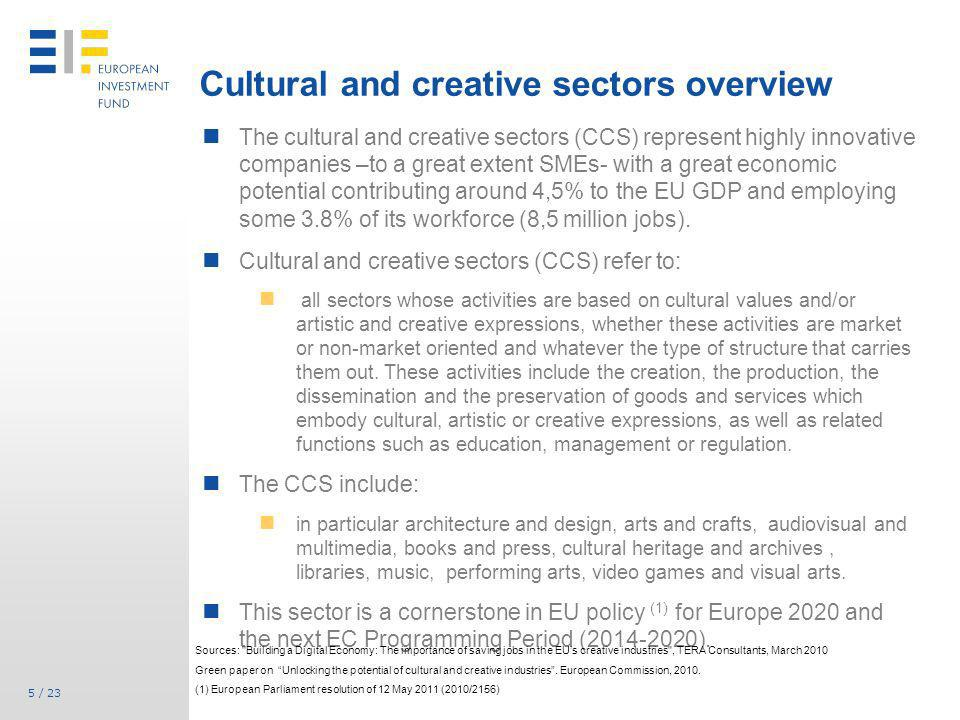 Cultural and creative sectors overview