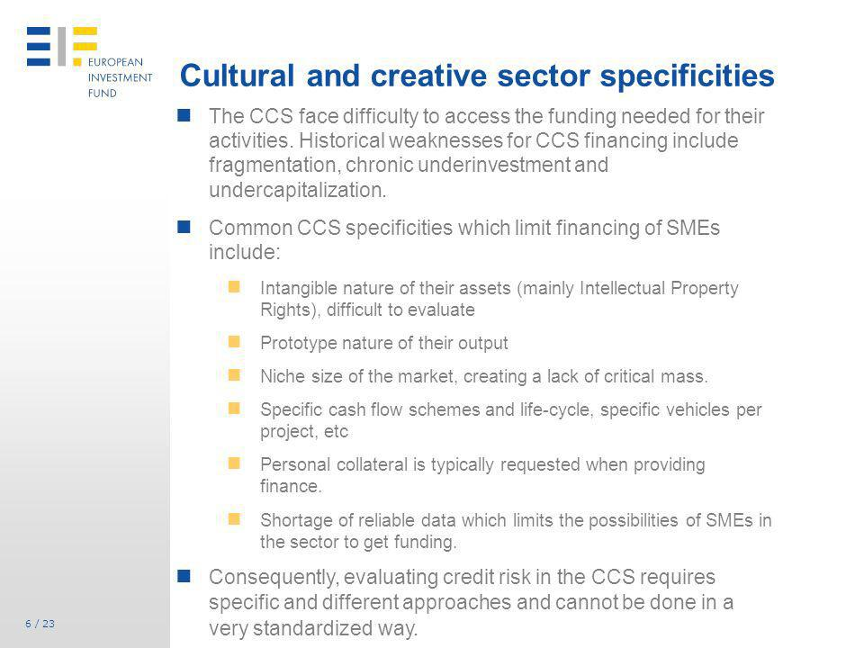 Cultural and creative sector specificities