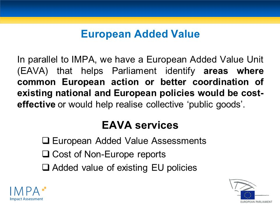 European Added Value EAVA services