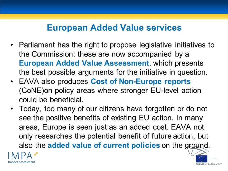 European Added Value services