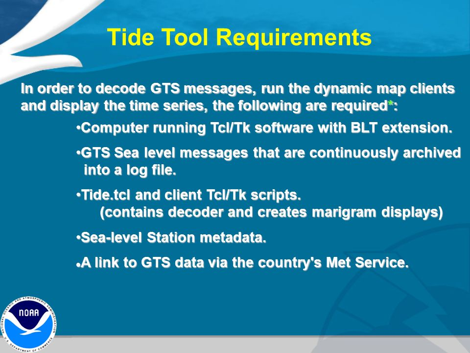 tide tool software to analyze gts sea level data ppt video online download. Black Bedroom Furniture Sets. Home Design Ideas