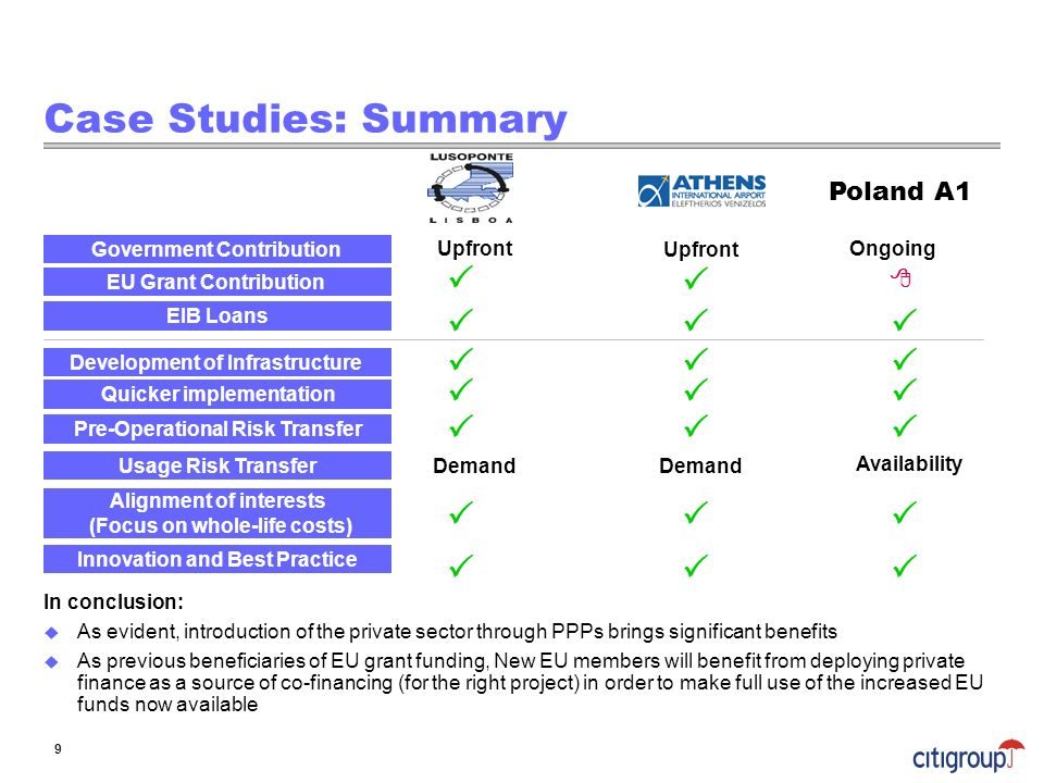 Case Studies: Summary                    