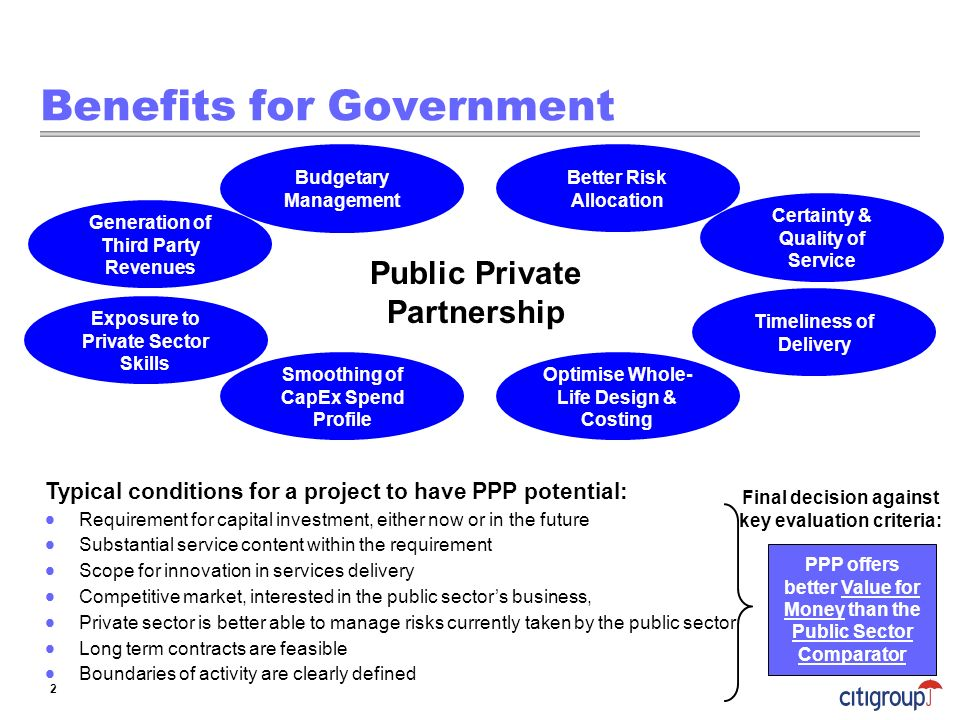 Benefits for Government