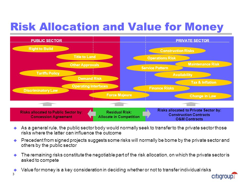 Risk Allocation and Value for Money