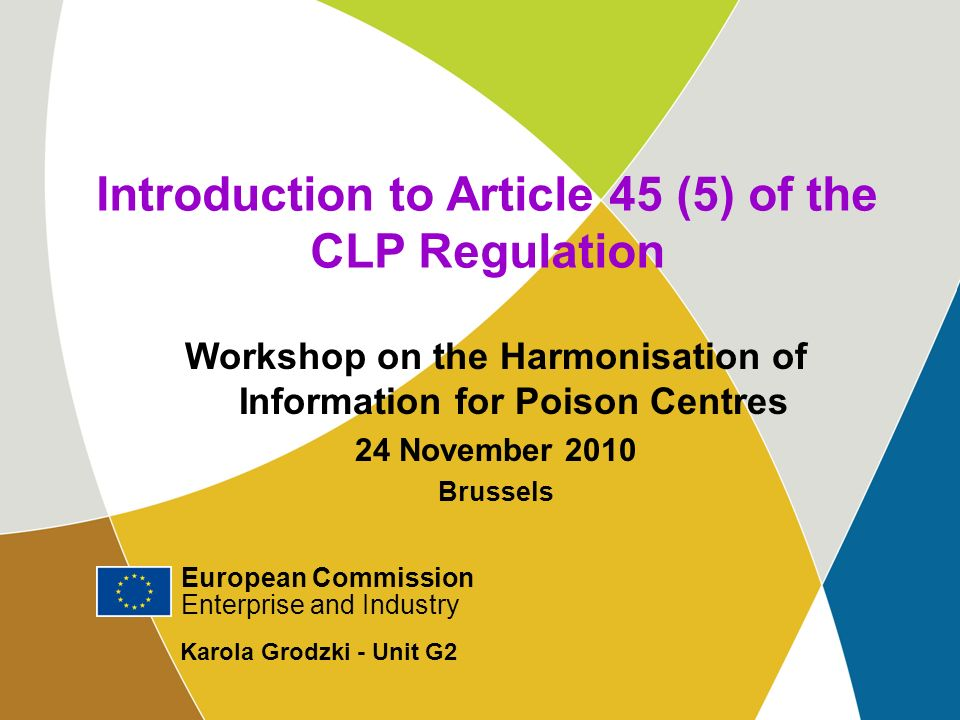 Introduction to Article 45 (5) of the CLP Regulation
