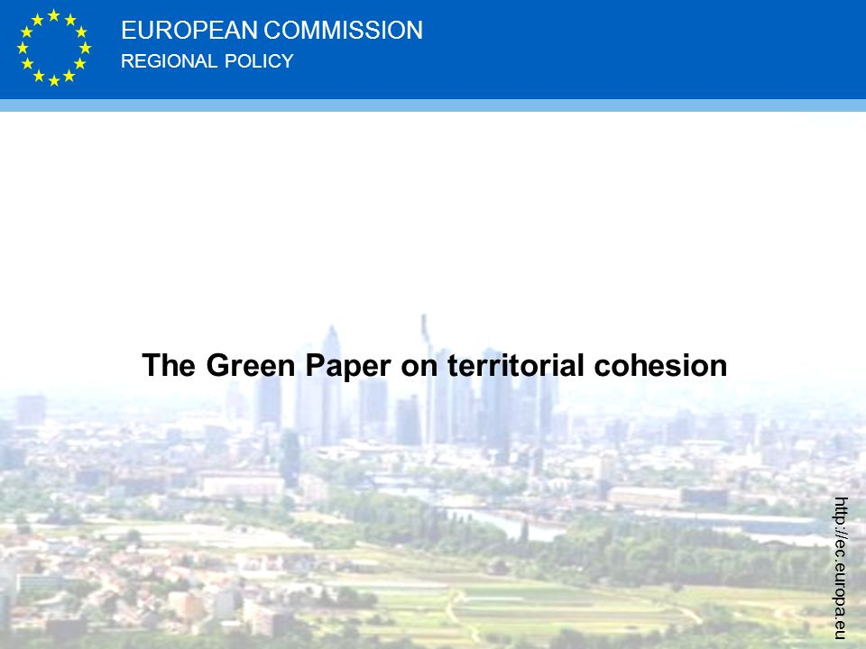 The Green Paper on territorial cohesion
