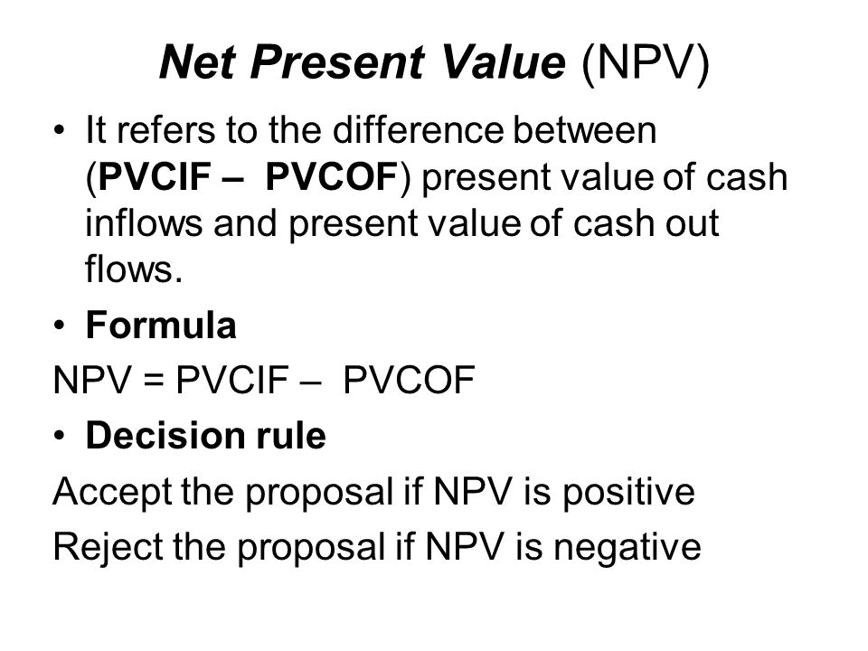 the difference between the present value Npv (net present value) is calculated in terms of currency while payback  is  the better way to compare with different investment projects.