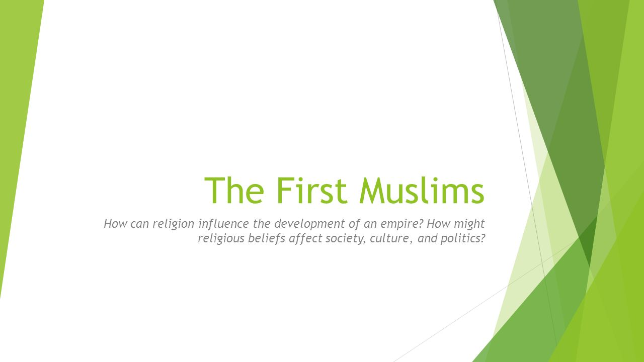 influence of islamic culture and belief