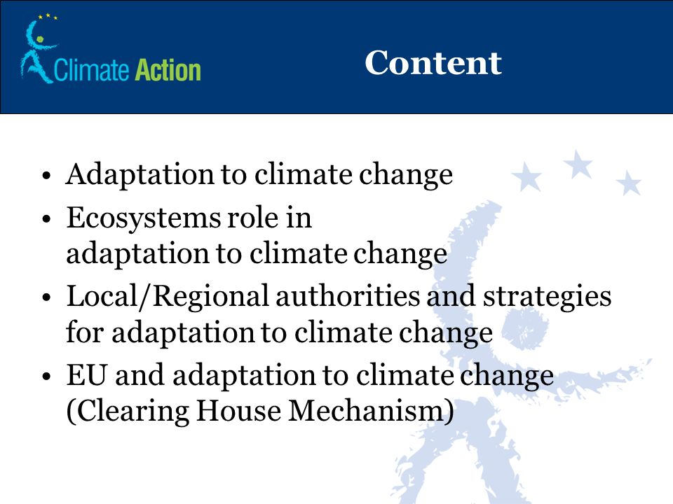Content Adaptation to climate change