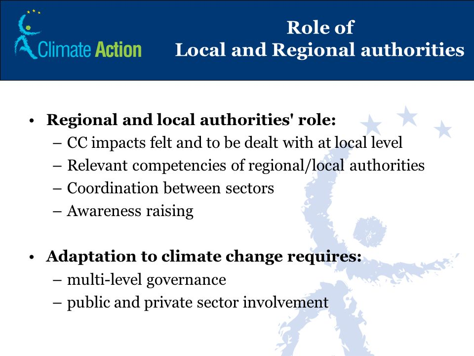 Role of Local and Regional authorities