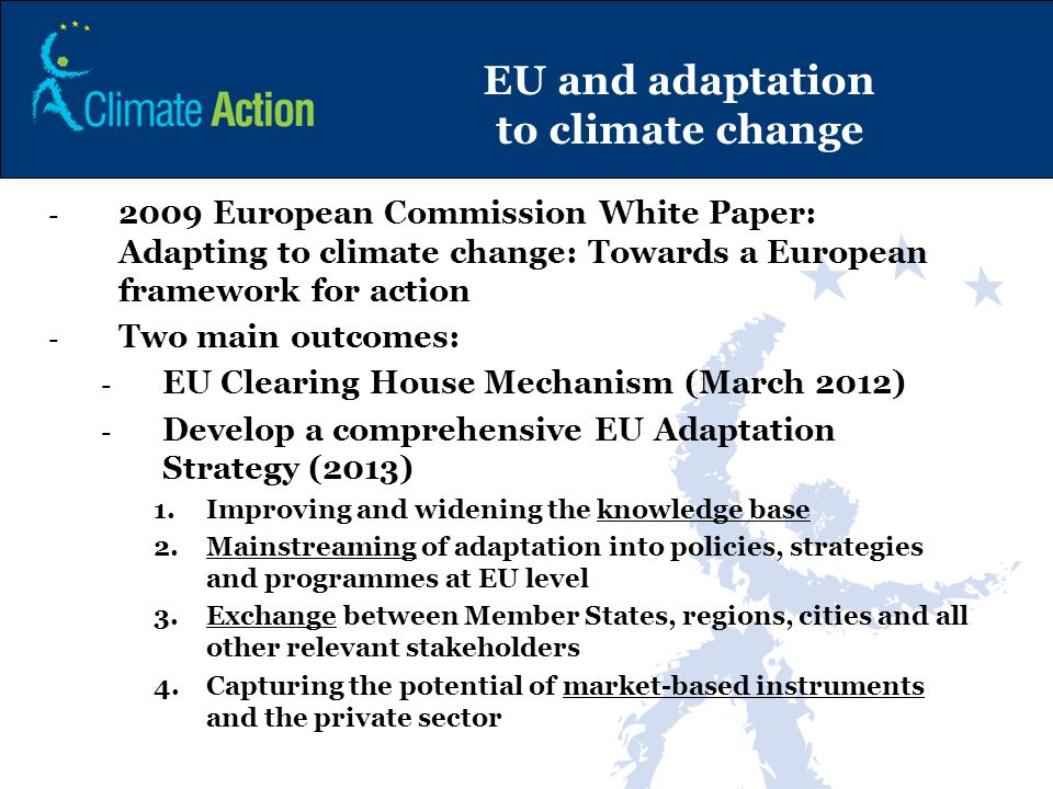 EU and adaptation to climate change