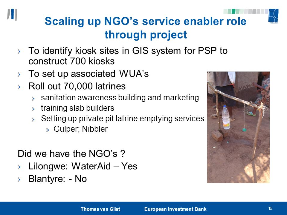 Scaling up NGO's service enabler role through project