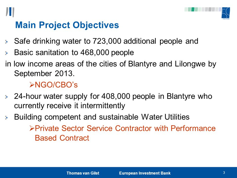 Main Project Objectives