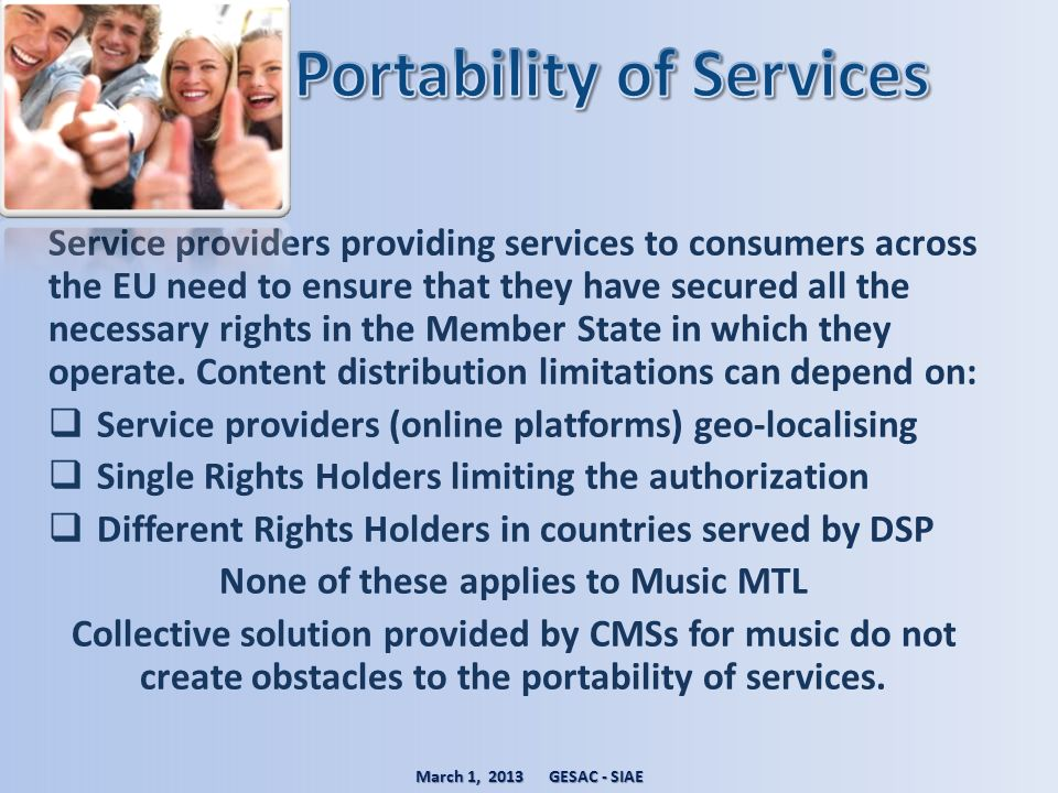 Portability of Services