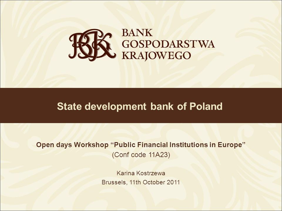 State development bank of Poland