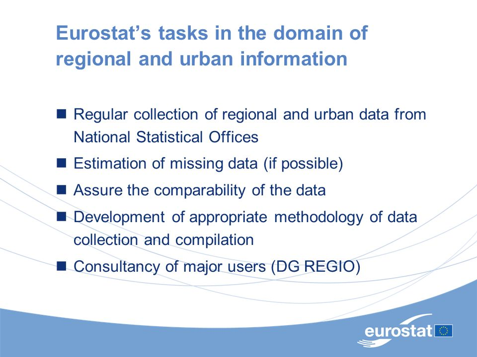Eurostat's tasks in the domain of regional and urban information