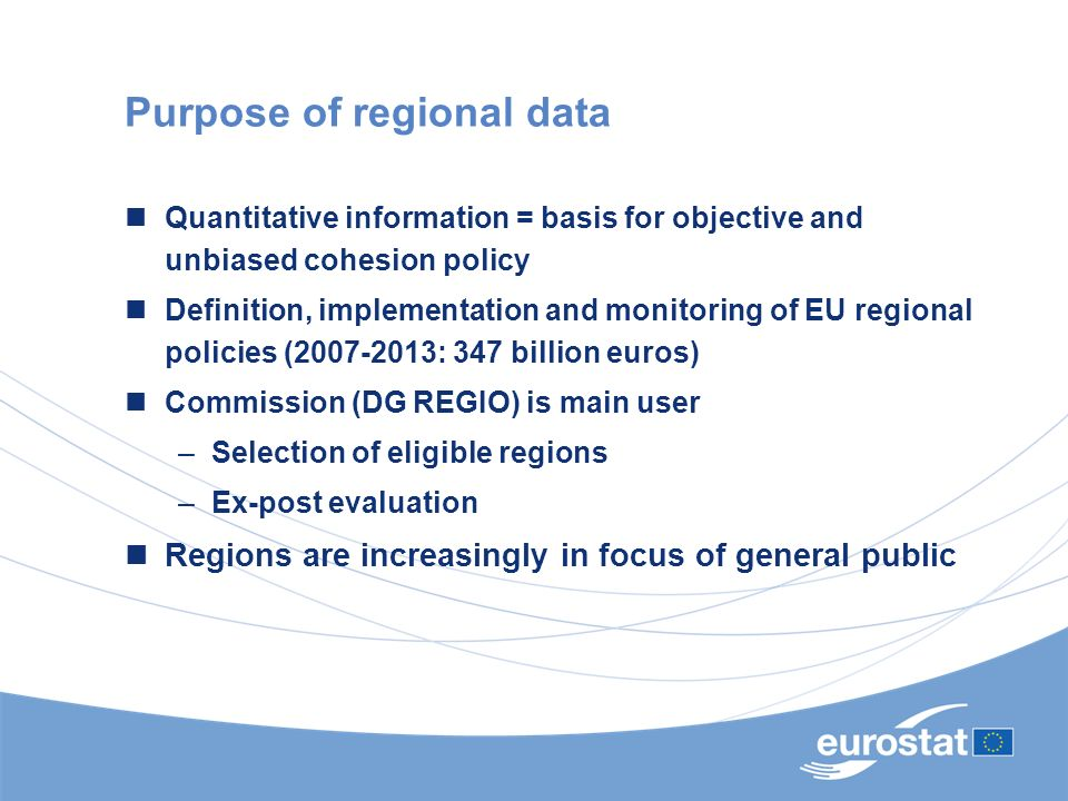 Purpose of regional data