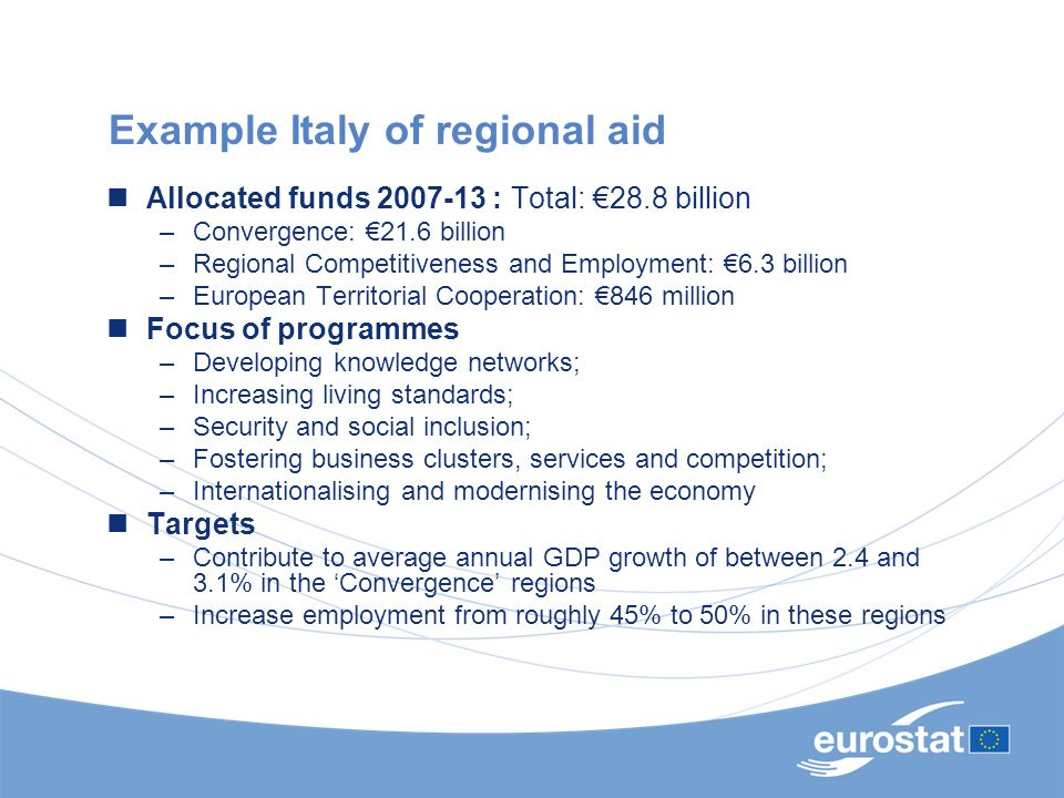 Example Italy of regional aid