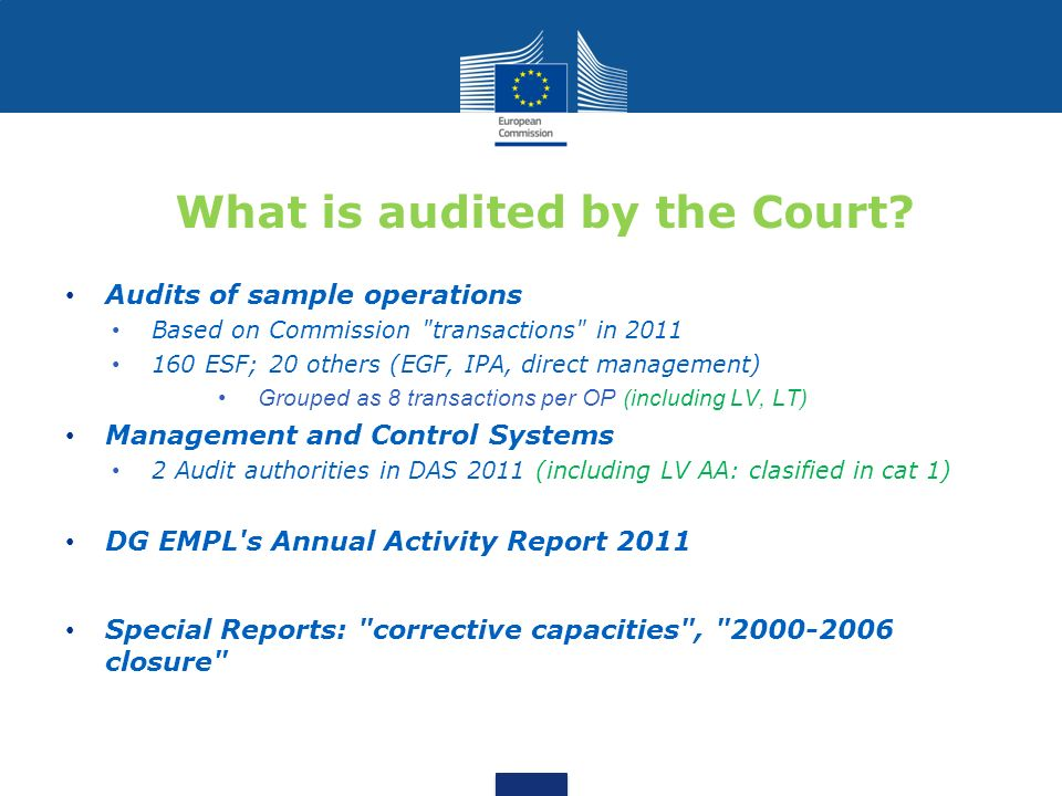 What is audited by the Court