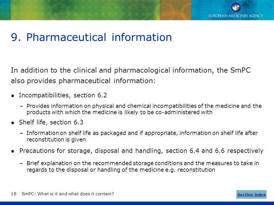 Pharmaceutical information