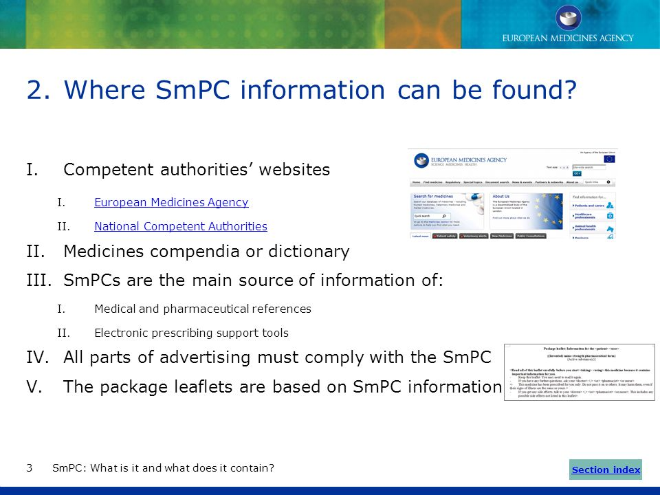 Where SmPC information can be found