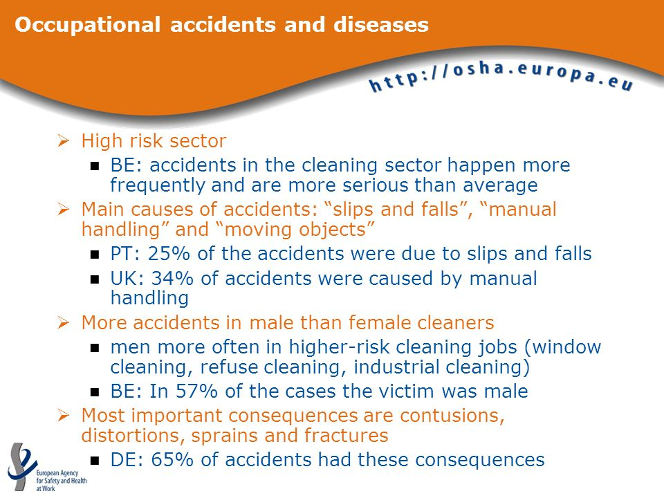 Occupational accidents and diseases