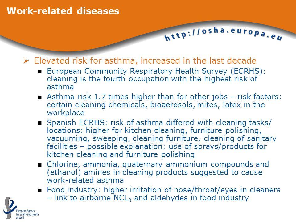 Work-related diseases