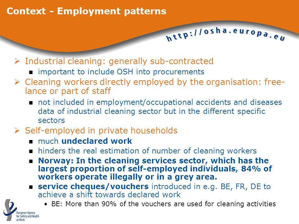 Context - Employment patterns
