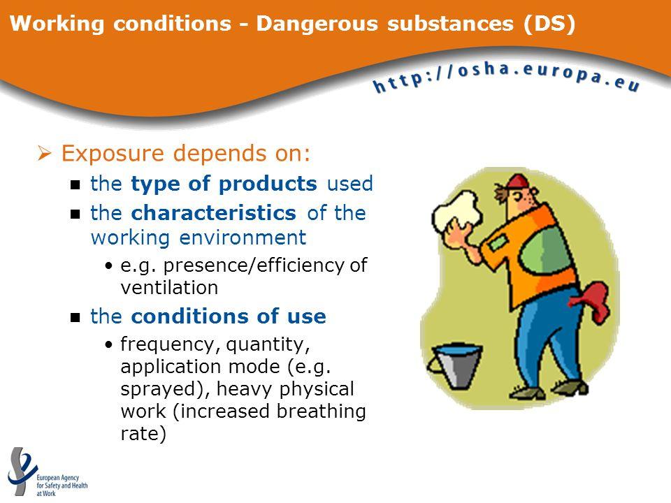 Working conditions - Dangerous substances (DS)