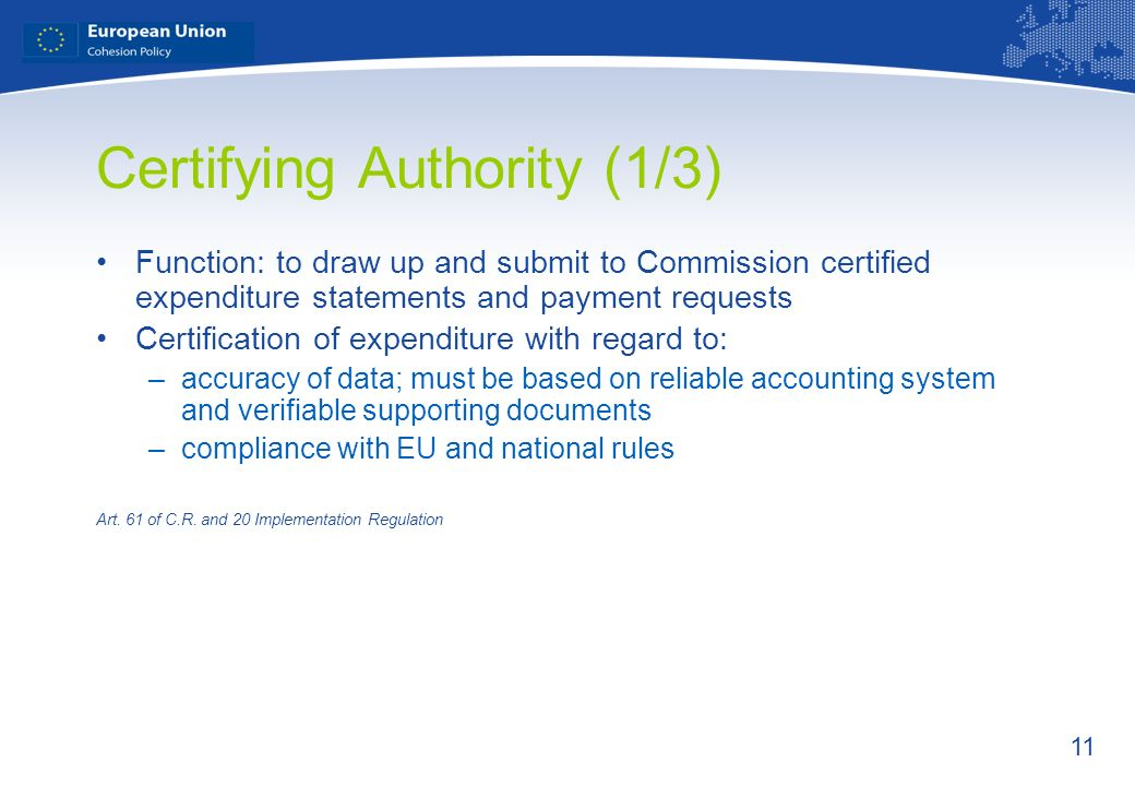 Certifying Authority (1/3)