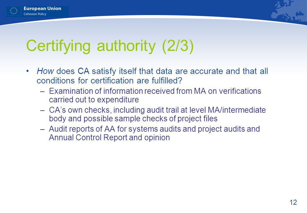 Certifying authority (2/3)