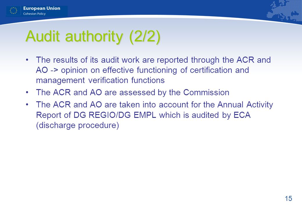 Audit authority (2/2)