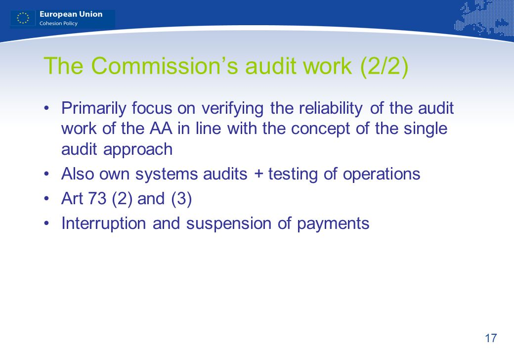 The Commission's audit work (2/2)