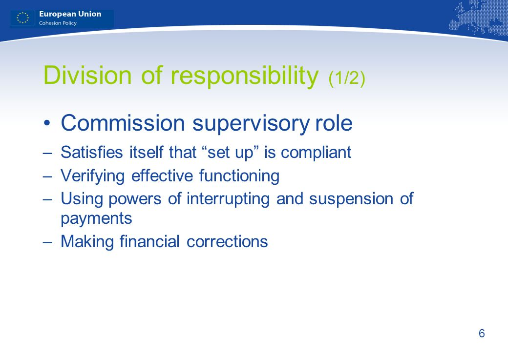 Division of responsibility (1/2)