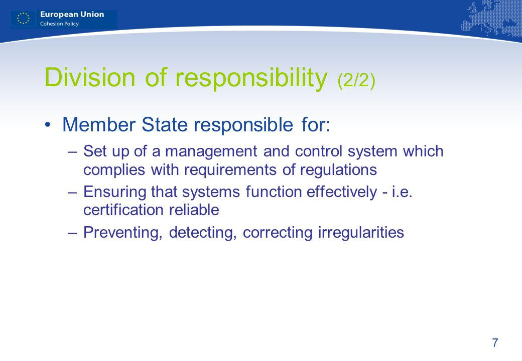 Division of responsibility (2/2)