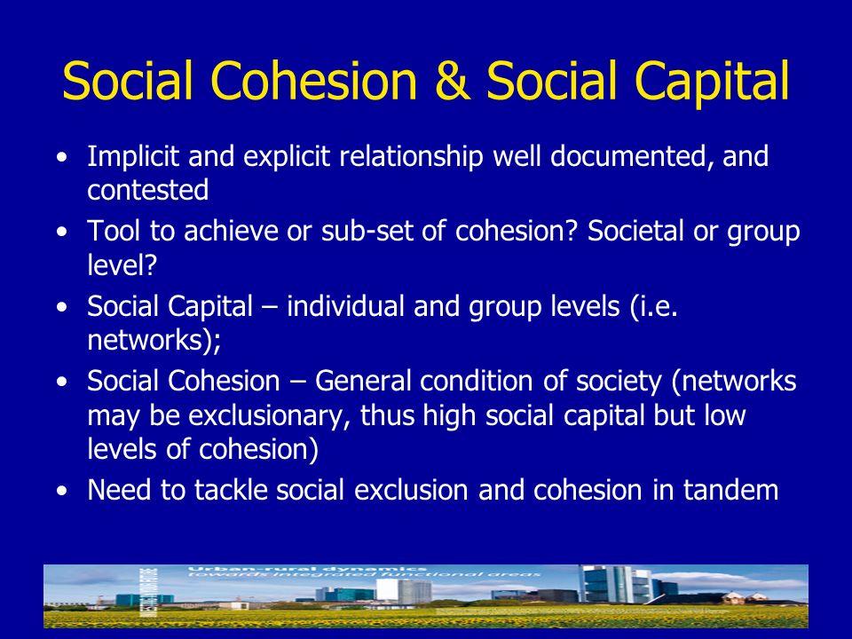Social Cohesion & Social Capital