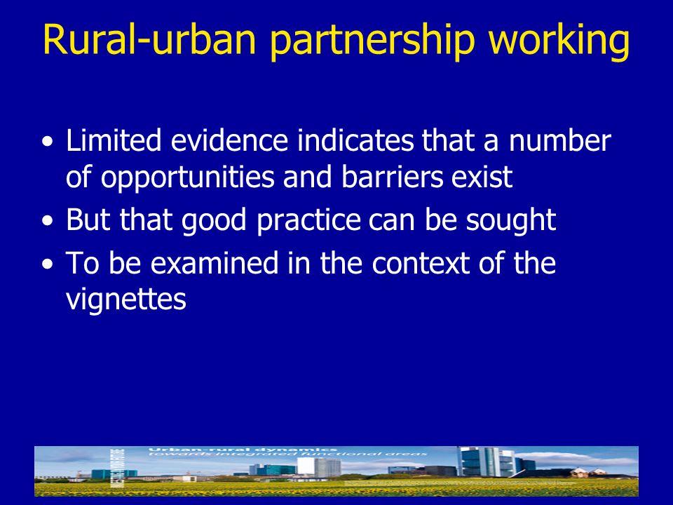 Rural-urban partnership working
