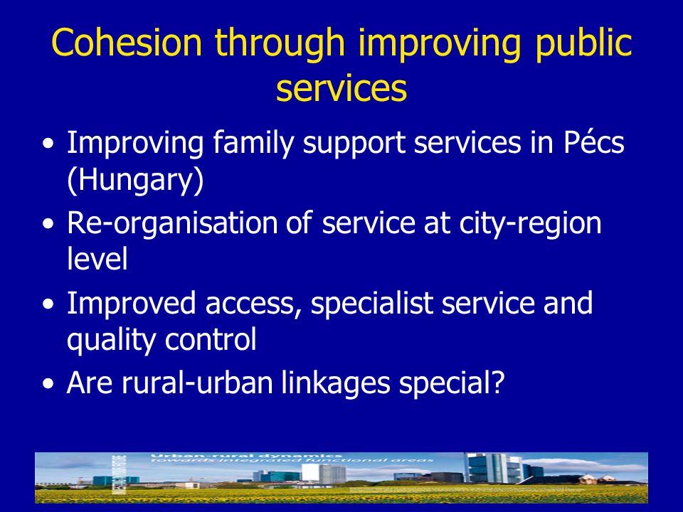 Cohesion through improving public services